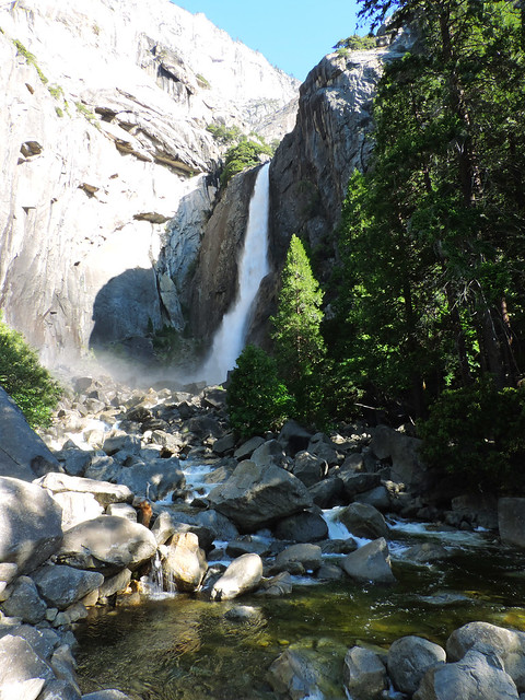 Stunning Waterfalls From The US: Lower Yosemite Fall, Yosemite National Park, California