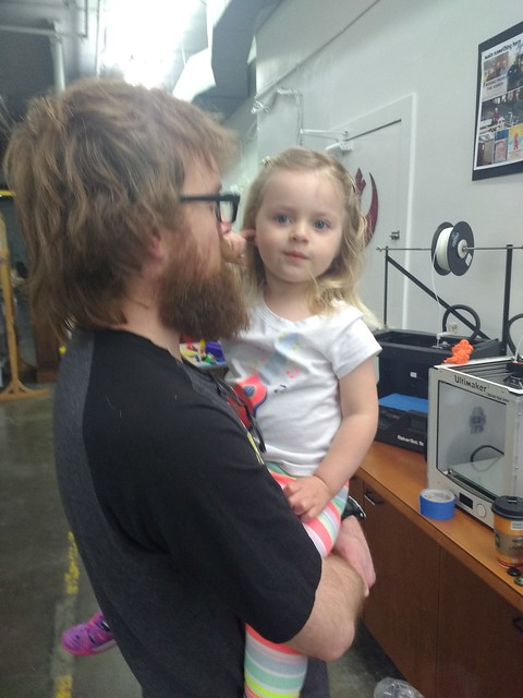 Daughter at the Makerspace