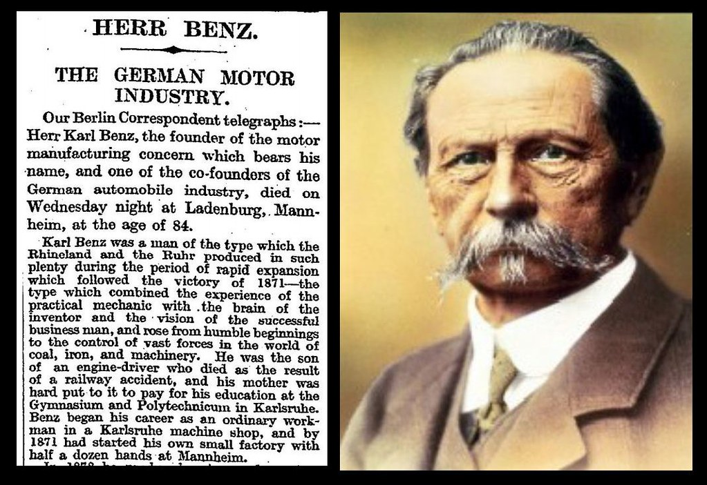 Karl Benz: 4th April 1929 - Death Of Karl Benz