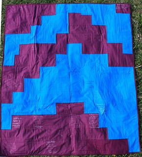 Fuchsia and Turquoise Wedding Quilt | by DanaK~WaterPenny