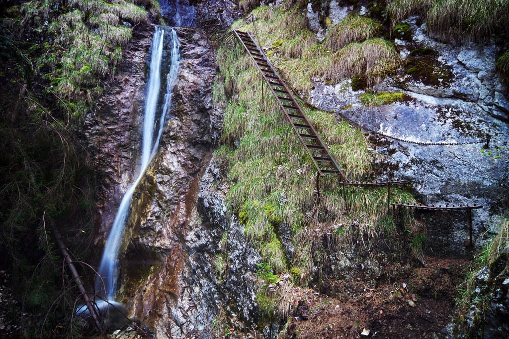 Sokolia dolina gorge - upper part of Závojový vodopád waterfall