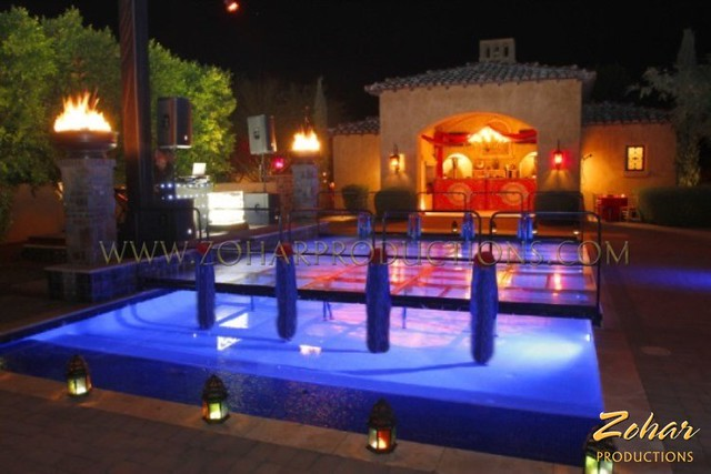 how to build a dance floor over a pool