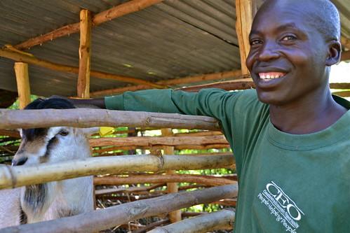 Visit to John Oboum's climate-smart farm site in Western Kenya
