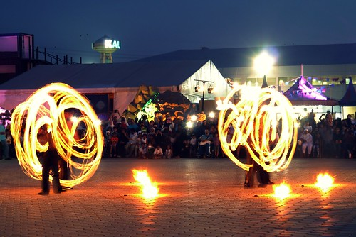 Fire dancers at Remal Festival 2014 | by Fstop Mathai