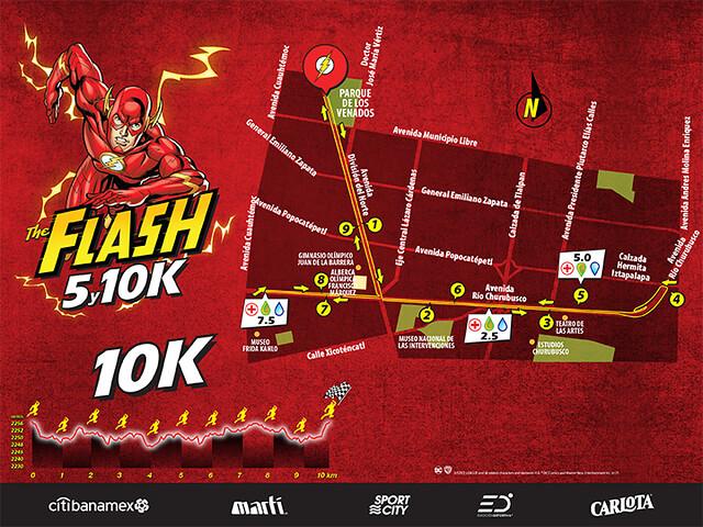 Ruta The Flash 5K y 10K
