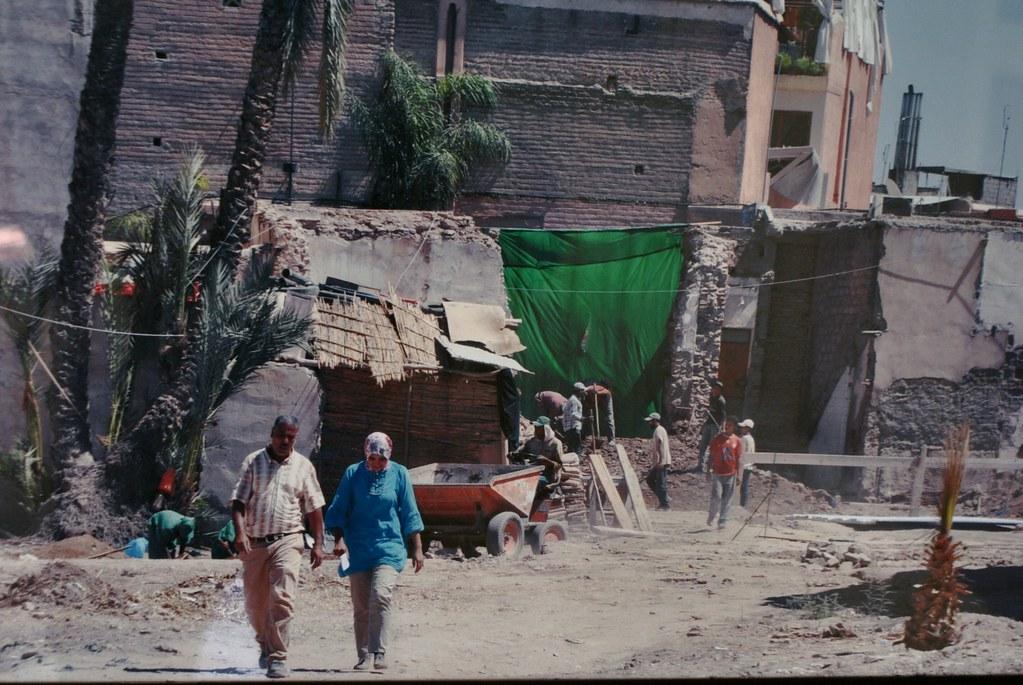 Une autre vue sur l'état des lieux du jardin secret de Marrakech avant la rénovation.