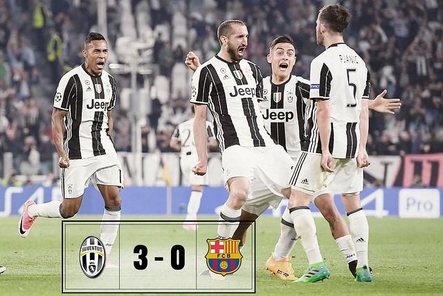 Champions League - Cuartos de Final (Ida): Juventus 3 - FC Barcelona 0