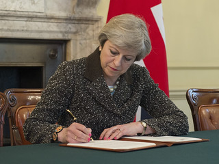 PM signs Article 50 letter | by UK Prime Minister