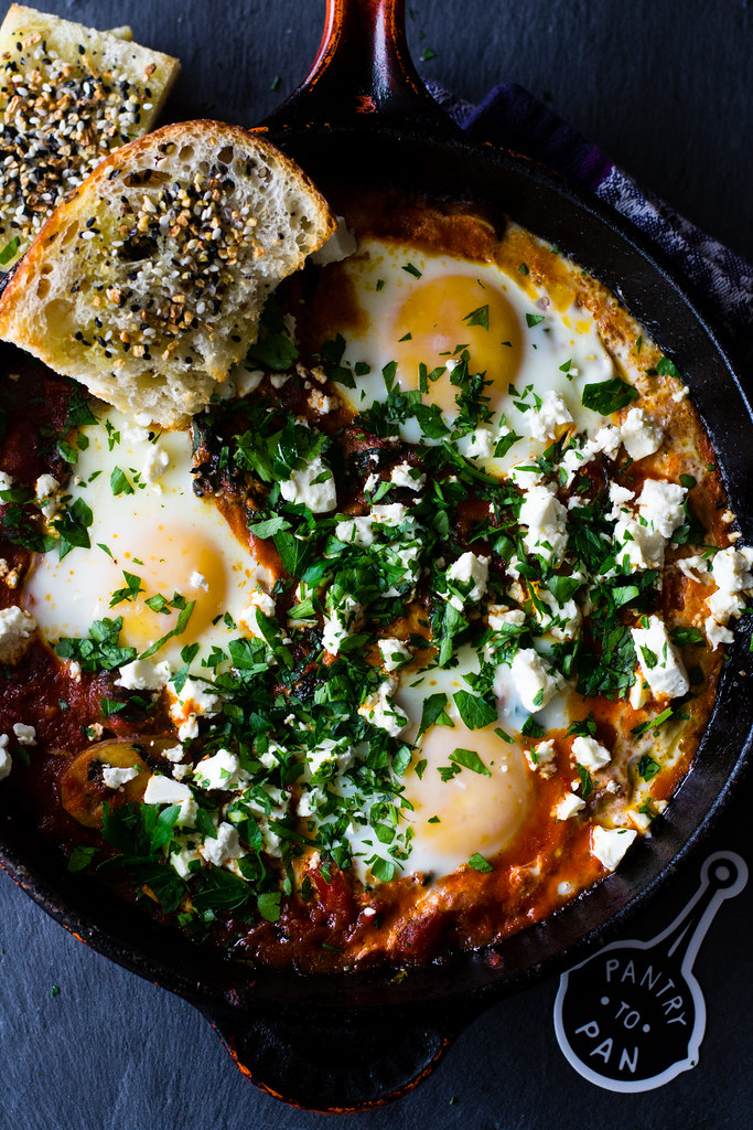 Kale Shakshuka with Feta and Herbs