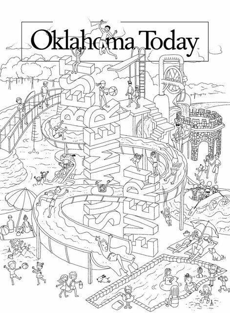 ou coloring pages - oklahoma today mj17 cover coloring page
