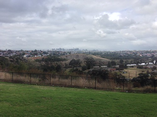 View of Melbourne from Maribyrnong River Trail