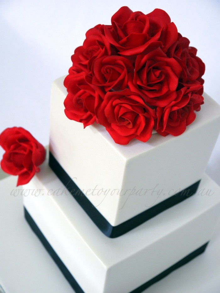 how to make fondant roses for wedding cakes fondant roses for wedding cake www cakemetoyourparty 15942