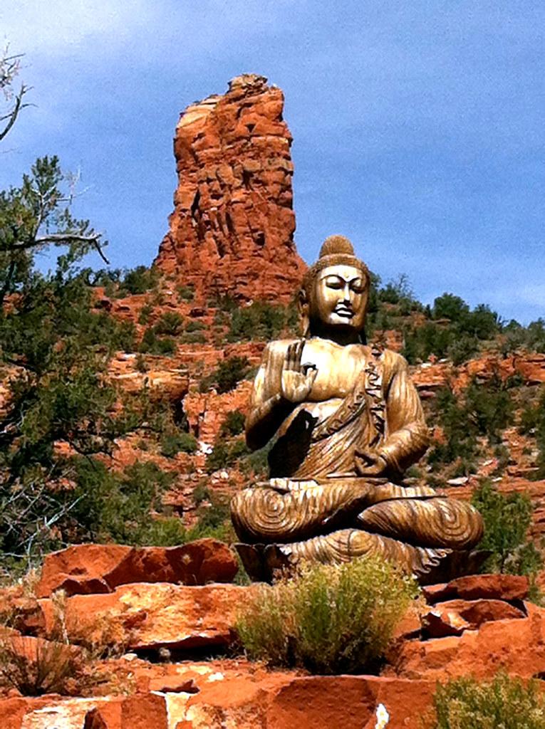 Buddha at Amitabha Stupa in Sedona, Arizona   Lamar Smith