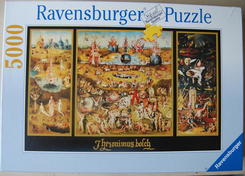 Ravensburger 5000 piece puzzle the garden of earthly del for Puzzle 5000 piezas