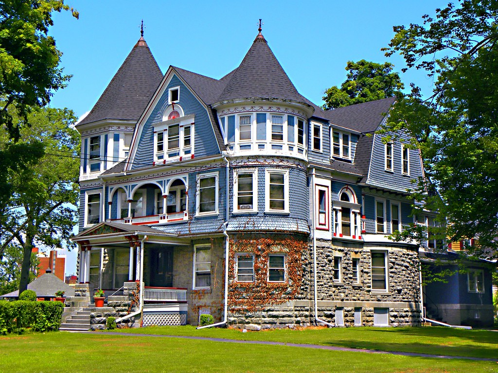 Elmira ny john brand jr house historical queen anne h for One story queen anne