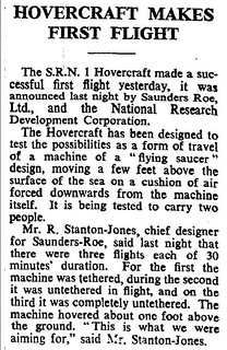 7th June 1959 - First Hovercraft flight | by Bradford Timeline