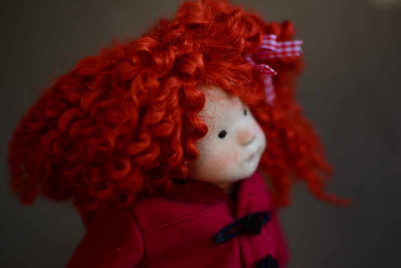 Curly Sue OOAK Natural Fiber ART DOLL