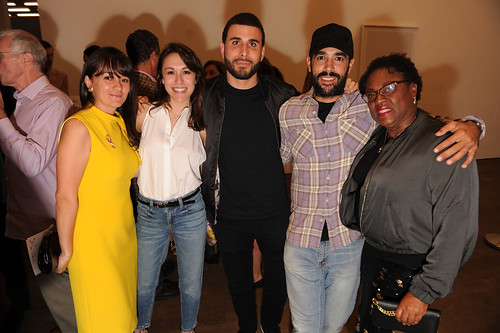 Cristina Gonzalez, Manuela Albir, Typoe, Alejandro Guzman, & Juana Valdes at Fourth Annual Reception for the PAMM Fund for African American Art