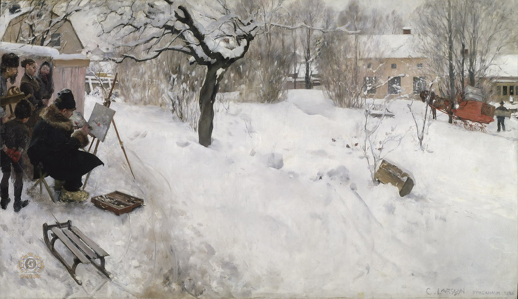 carl larsson open air painter 1886 carl larsson s monu flickr. Black Bedroom Furniture Sets. Home Design Ideas