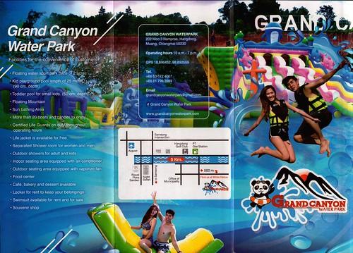 Brochure Grand Canyon Water Park Chiang Mai Thailand 1