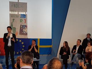 Giacomo Polignano con Renzi e Martina