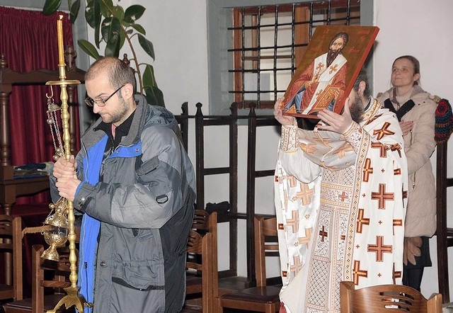 Освещаване иконата на Св. Емилиян - Неделя на Митаря и Фарисея, 5 февруари 2017 г.