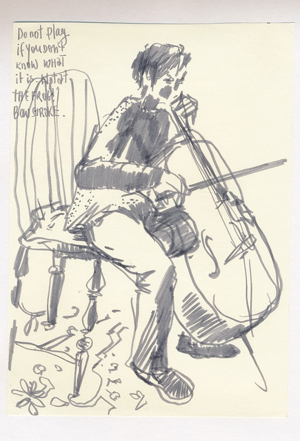 Sketchbook #102: Cello Practice