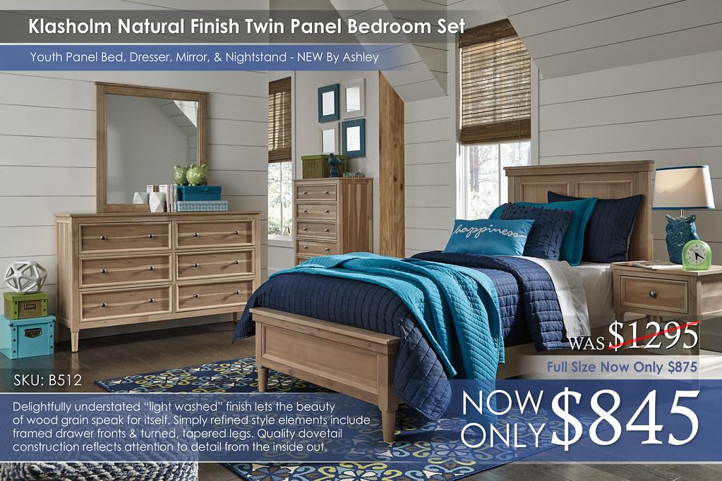 Klasholm Natural Finish Twin Panel B512