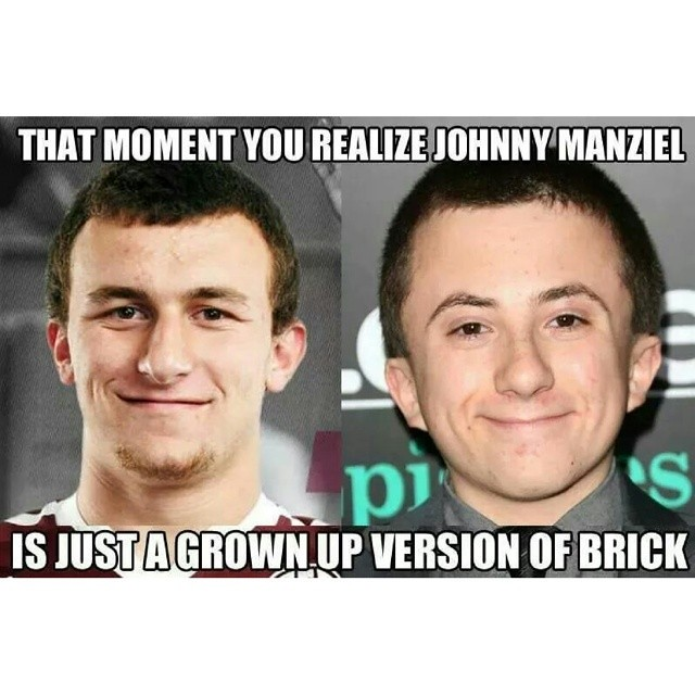 Johnny Manziel Stars In The TV Show Middle As Brick Sportsmemes Ratchet