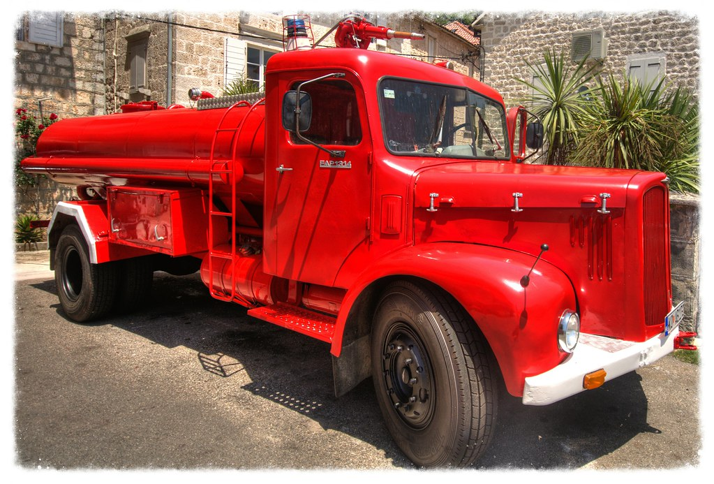 Old Fire Engine at Perast in Montenegro | Flickr - Photo Sharing!