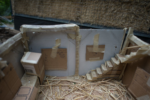 Straw Bale Cottage Cardboard Model | by goingslowly