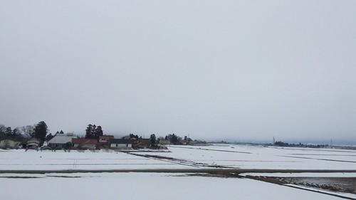 磐越道 新鶴PA(上り)からの眺め