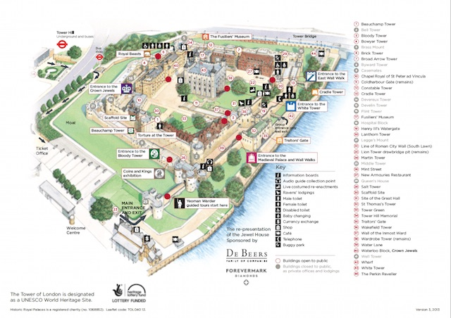Plano de la Torre de Londres