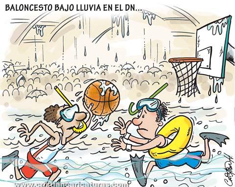 Baloncesto bajo lluvia