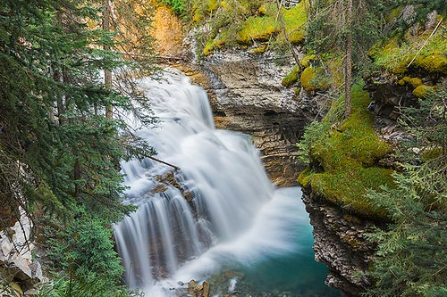 Upper Falls in Johnston Canyon, between Banff and Lake Louise, Alberta, Canada | by BCVacation