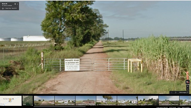 Google Maps screenshot of Burton Lane, the former evacuation route to 3127