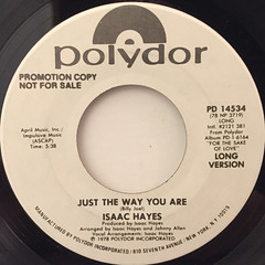 ISAAC HAYES:JUST THE WAY YOU ARE(LABEL SIDE-A)