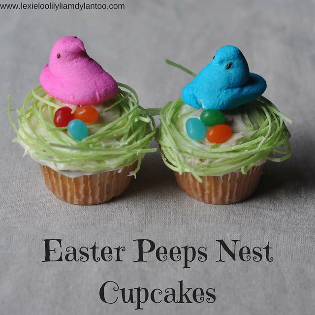 Easter Peeps Nest Cupcakes