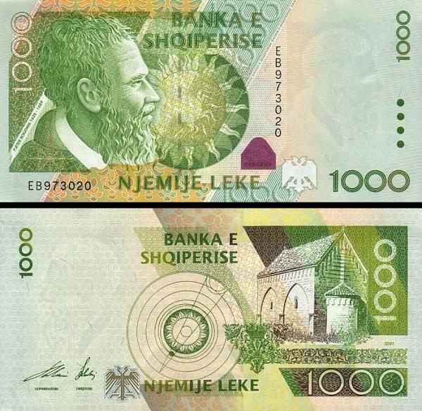 1000 Leke Albánsko 2001, P69a
