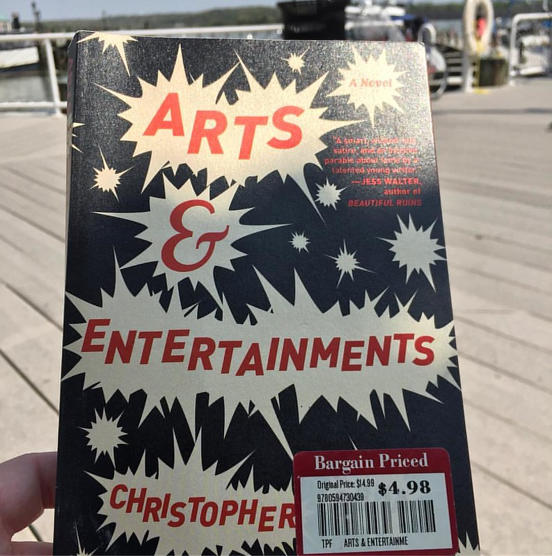 Remaindered reads - this is a good one. Arts and Entertainments by Christopher Beha is a sendup of the highly scripted world of reality TV #books #reading #fiction