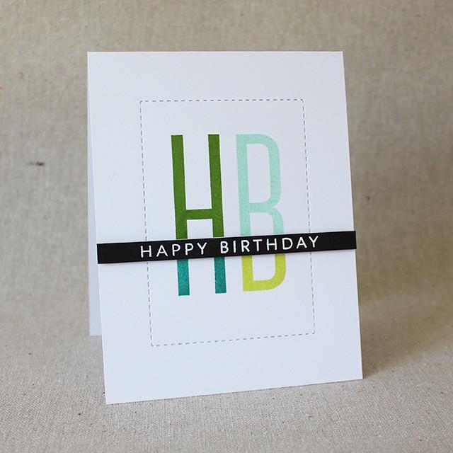 Happy Birthday Quad Card