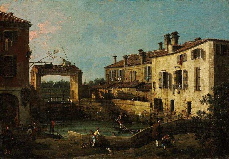 Canaletto - Lock near Dolo (1776)