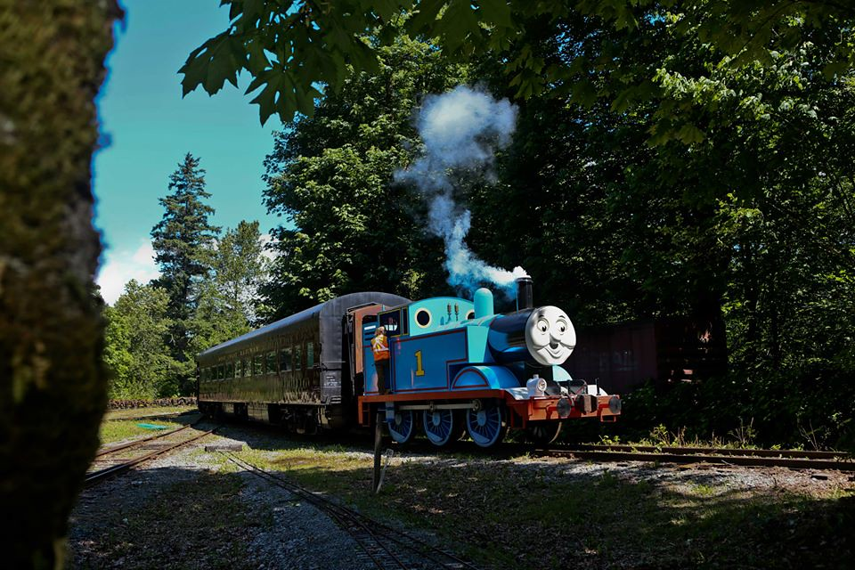 Riding Thomas the Tank Engine