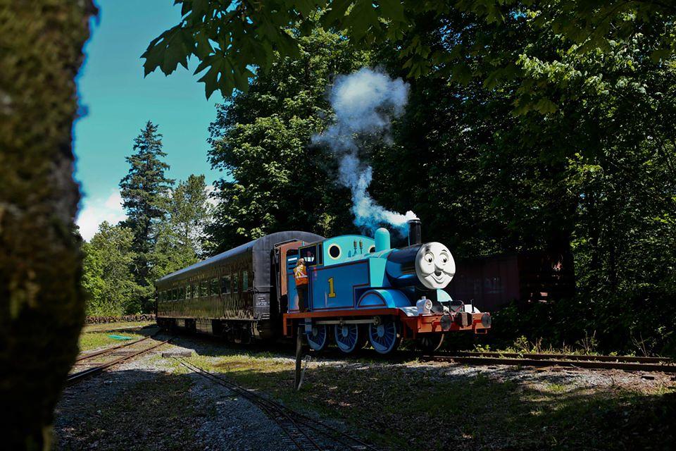 Riding Thomas the Tank Engine