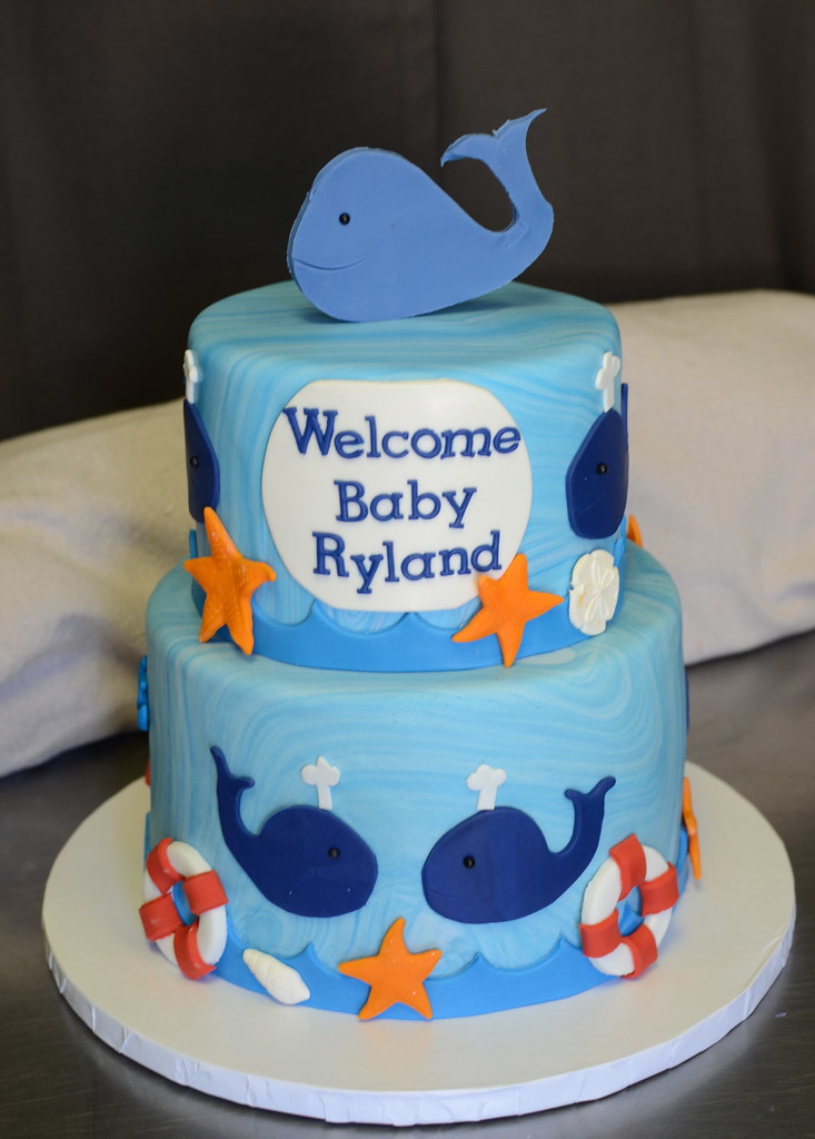 Whale Baby Shower Cake Whale Themed Baby Shower Cake With Flickr
