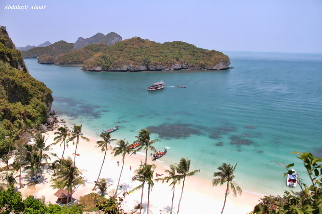 Peeing beach koh island