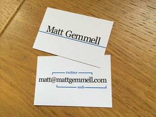 Business cards | by Matt Gemmell