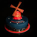 Moulin Rouge Windmill Cake