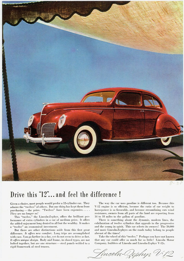 1938 Lincoln Zephyr Coupe Sedan Alden Jewell Flickr