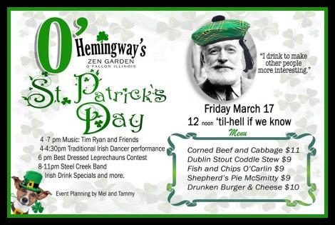 Hemingway's 3-17-17